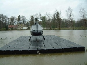 Floating docks for Helicopter landing pads