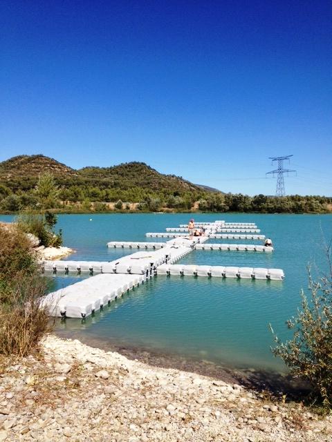 pontons flottants Pays d'Aix